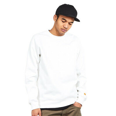 Carhartt WIP - Chase Sweat White / Gold Pullover Rundhals