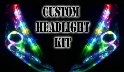 LED RGB Head Light Halo Angel Eye DRL Retrofit For Jeep Grand Cherokee Wrangler