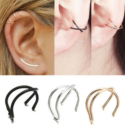 Vintage Women Ear Wrap Clip on Cuff Cartilage Earring No Piercing Jewelry Gift
