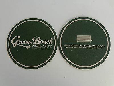 Collectible Beer Brew Coaster ~ GREEN BENCH Brewing Co ~ St Petersburg, FLORIDA