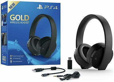 Sony GOLD 7.1 PS4 Wireless Headset - Black.