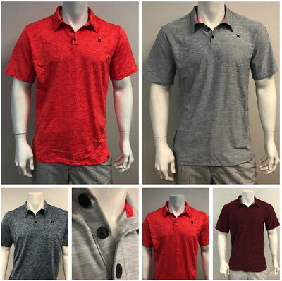 New Hurley Mens Quick Dry Gym Performance Polo Shirt T-Shirt -Size S - 3XL