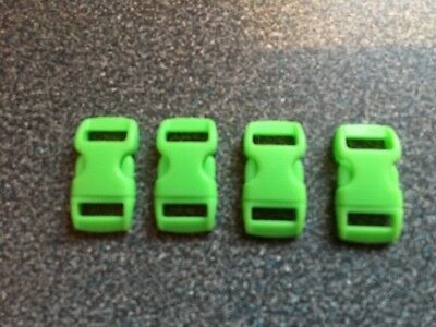 Craft/ Luggage / Holdall Replacement Strap Clips Set of 4,  10mm , Green