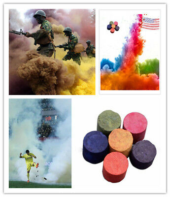 Colorful Smoke Cake Smoke Effect Show Round Bomb Photography Divine Gift Aid Toy