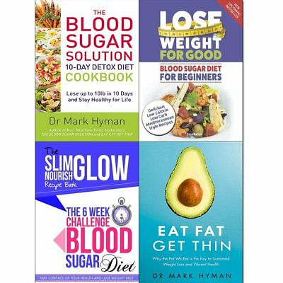 Eat Fat Get Thin Cookbook Mark Hyman 10-Day Detox Diet 4 Books Collection Set
