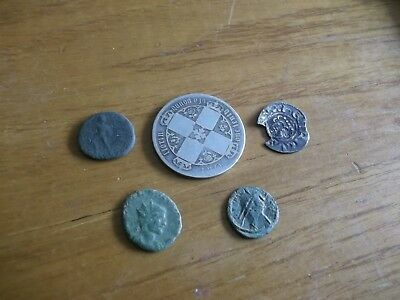 JOB LOT OF METAL DETECT FINDS  ROMAN/HAMMERED/VICTORIAN COINS  99p AE16