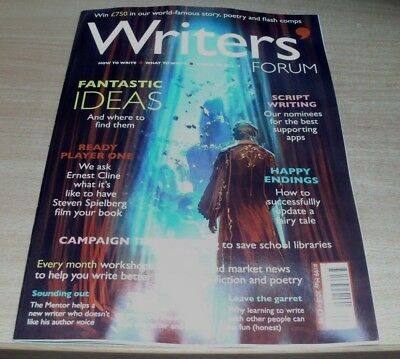 Writers' Forum magazine #199 MAY 2018 Ideas & Finding Them, Ready Player One &