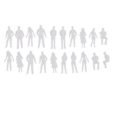 20pcs 1/50 Scale Unpainted Model People Architectural Figure Miniature DIY
