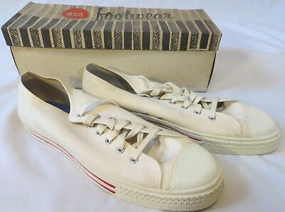 b1494702aa09f VINTAGE CANVAS SHOES Red Ball Jets Mens Dead Stock 11 M