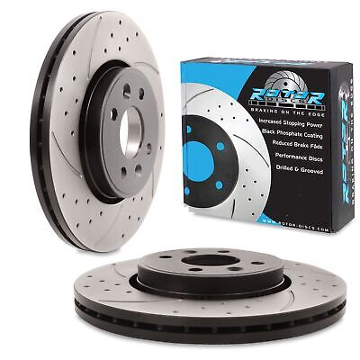 FRONT DRILLED GROOVED 280mm BRAKE DISCS FOR RENAULT MEGANE SCENIC LAGUNA COUPE
