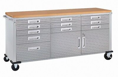 New 11 Drawer Tool Cabinet Work Bench Stainless Steel Wood Top 6
