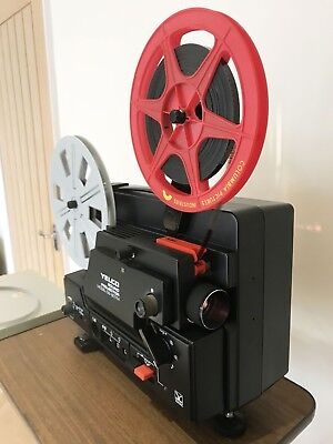 Yelco DS-607M SUPER 8 Sound  CINE PROJECTOR FULLY SERVICED Ready to go