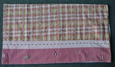 Disney Winnie The Pooh Delightful Day Pink Corduroy Tan Plaid Floral Valance