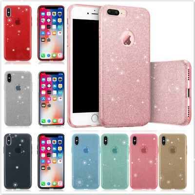Full Bling Pink Glitter Sparkle Case Cute Slim Protective Cover For iPhone