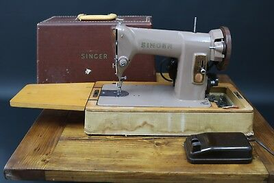 Singer 185K Electric Sewing Machine Heavy Duty Sews Leather Canvas Denim