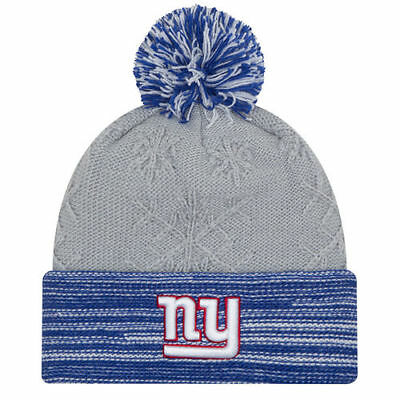 buy popular 4041b 53084 New Era New York Giants Women s Gray Royal Snow Crown Redux Cuffed Knit Hat