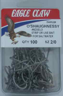 EAGLE CLAW 254SS #3//0 100CT  OSHAUGHNESSY HOOKS STAINLESS STEEL 9822