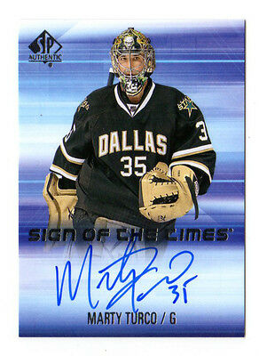 Marty Turco Nhl 2015-16 Sp Authentic Sign Of The Times Auto (Dallas Stars)