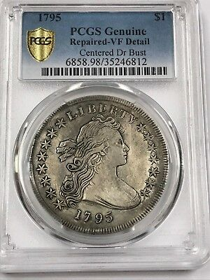 1795 Dollar Large Bust $1 PCGS Genuine Repaired VF Detail [812]