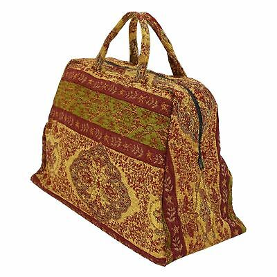 Small Deluxe English Nanny Victorian Mary Poppins Carpet Bag Prop Accessory