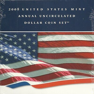 2008 United States Mint Annual Uncirculated Dollar Set Silver American Eagle