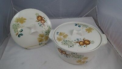 """IROQUOIS CHINA """"OLD ORCHARD"""" BEN SEIBEL INFORMAL 10 1/2"""" DUTCH OVEN Extra LID"""
