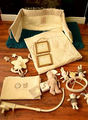 Next Ollie and Molly unisex beige nursery set in excellent condition