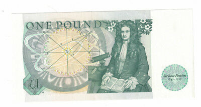 Great Britain 1 Pound, ND(1981-84) Nice Note w/ Sir Isaac Newton, QEII, P-377b