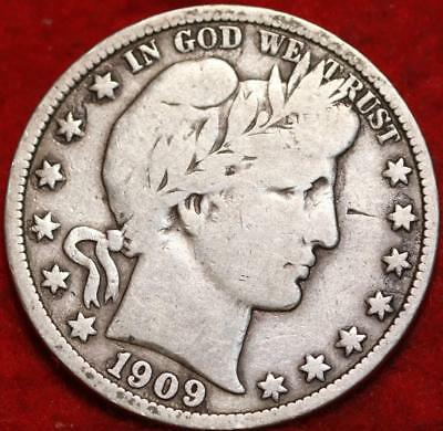 1909 Philadelphia Mint Silver Barber Half Dollar !