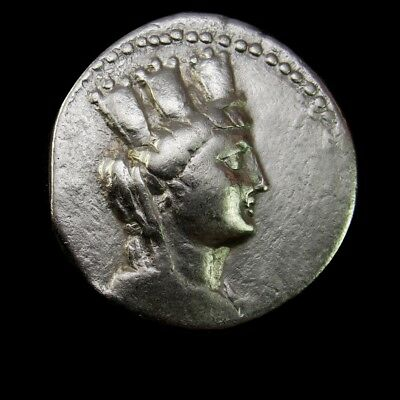 Exceptional Big Tetradrachm with beautiful portrait of Tyche.PHOENICIA. Aradus.