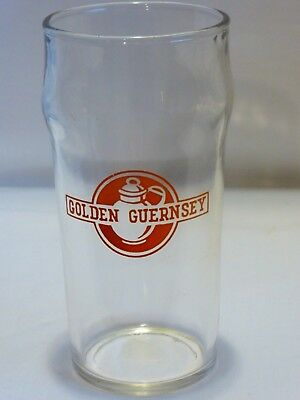 1950-60's VINTAGE GOLDEN GUERNSEY DAIRY ENAMEL MILK DRINKING GLASS ADVERTISING!