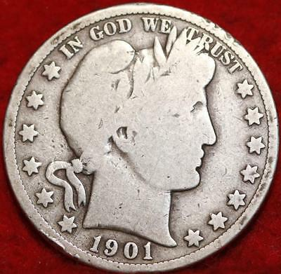 1901-S San Francisco Mint Silver Barber Half Dollar