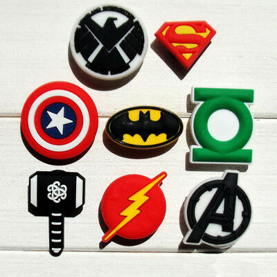 8pcs/lot Avengers PVC Shoe Charms for Croc & Jibbitz Bands Bracelets Boys Gifts