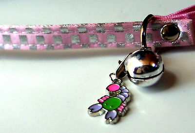 PINK  and SILVER safety Cat / Kitten COLLAR, for the seaside cat