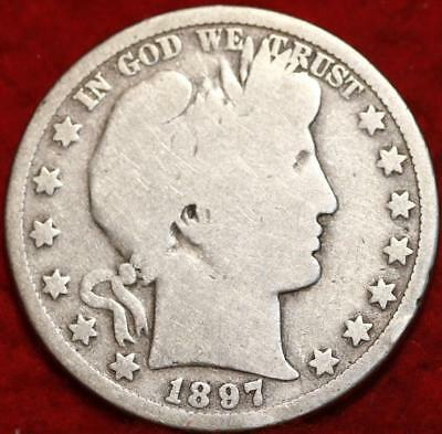 1897-O New Orleans Mint Silver Barber Half Dollar