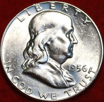 Uncirculated 1956 Philadelphia Mint Silver Franklin Half