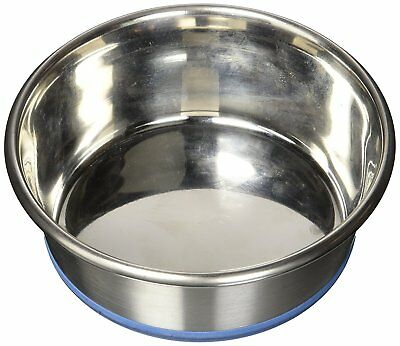 OurPets Durapet NO SKID Stainless Steel Food and Water DOG Bowl 1.2 Pint