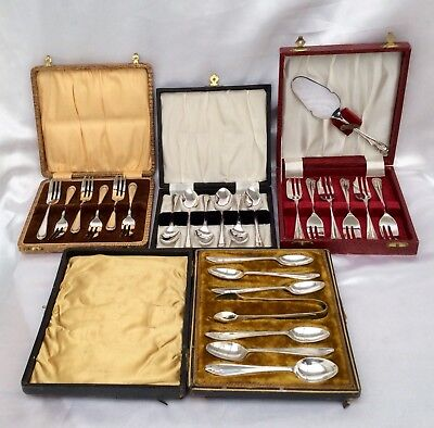 Fine Quality Antique/Vintage Joblot Of 4 Boxed Sets Of Cutlerly Items