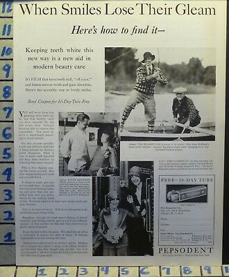 1928 Pepsodent Mary Hoffman Sport Fish Dental Hygiene Dentist Tooth   H3