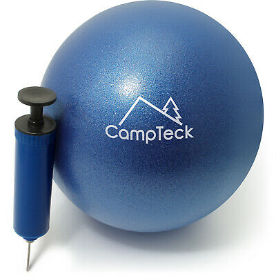 Blue Yoga Pilates Ball 23cm Soft Ball for Gym Fitness Core Exercise With Pump