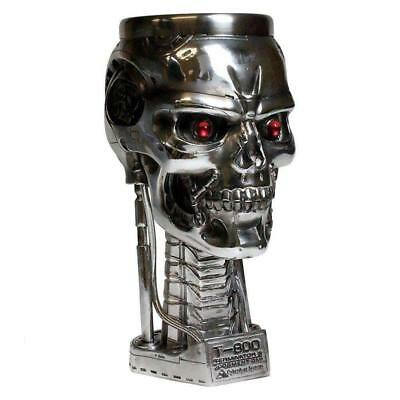 Terminator 2 Head Goblet Mug Cup Fantasy Collectible Science Skull Skeleton Gift