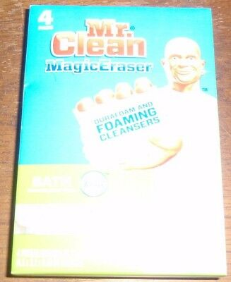 Mr Clean 4 Pads Magic Eraser Bath Durafoam Household Cleaning