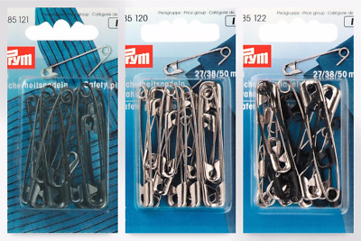 85215-M per pack of 12 Prym Hardened Metal Safety Pins