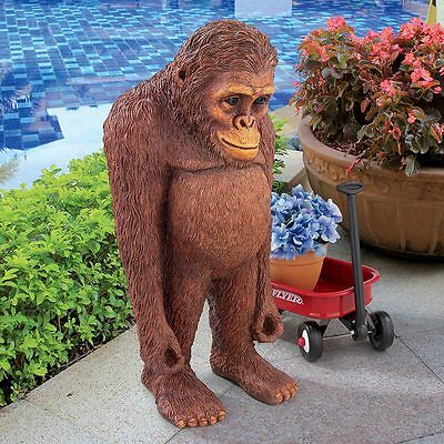 "©Java The Bashful Orangutan Design Toscano Exclusive 24"" Hand Painted Statue"