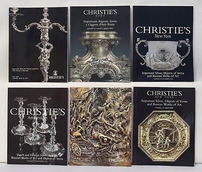 Christies Lot 6 Important Silver Objects Vertu Russian Works Art Catalogs 1048