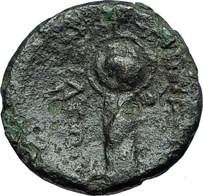 LYSIMACHOS Thrace King 305BC Lampsakos Ancient Greek Coin ATHENA TROPHY i68691