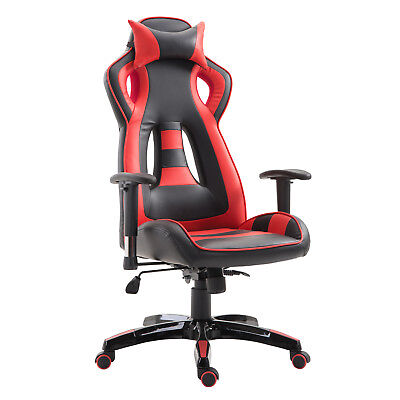 Gaming chair Office Recliner Ergonimic Heavy Duty High Bcak Red PU/ PVC