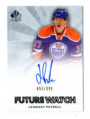 Lennart Petrell Nhl 2011-12 Sp Authentic Auto Rookie Card (Edmonton Oilers)