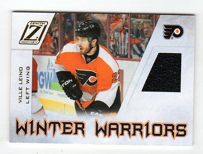 Ville Leino  Nhl 2010-11 Zenith Winter Warriors Materials (Philadelphia Flyers)