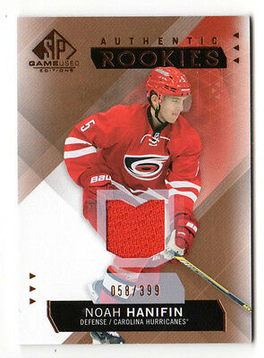 Noah Hanifin Nhl 2015-16 Sp Game Used Copper Jerseys (Carolina Hurricanes) #/399